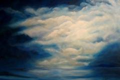 W1,  Die letzten Sonnenstrahlen, 2008, AL, 80x100, © Lore Weiler
