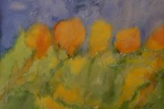 AQ1, Chopin, gemalt nach Musik, 1998, Aquarell, 40x50 m.R., © Lore Weiler