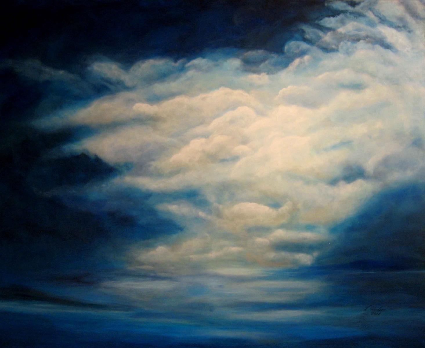 W1,  Die letzten Sonnenstrahlen, 2008, A-L, 80x100, © Lore Weiler