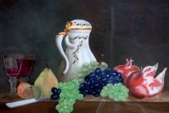 Hinterglasmalerei, nach J.-B.-S. Chardin, verkauft,  © Lore Weiler