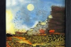 HG8,  Abstrakt II, 1990, ÖL, 35x26, © Lore Weiler