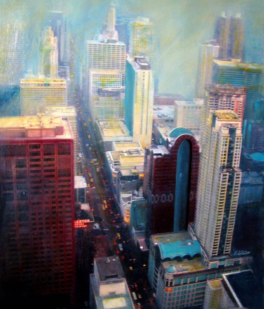 S2, Chicago II, 2008,  A-L, 60x50, verkauft, © Lore Weiler